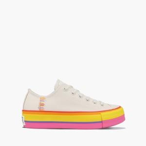נעליים קונברס לנשים Converse Chuck Taylor All Star Lift OX - לבן/צהוב