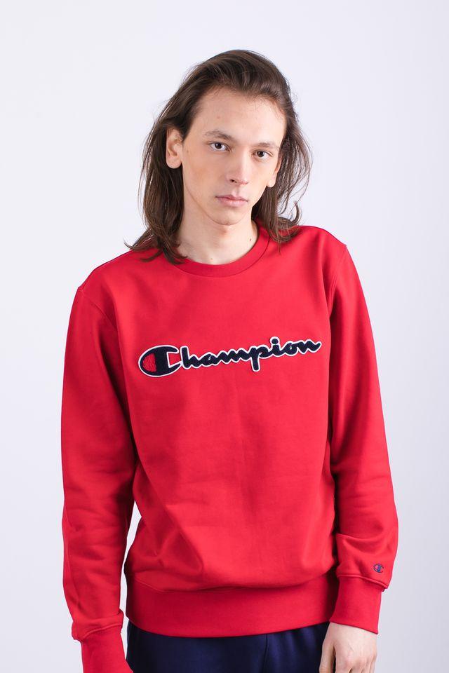 ביגוד צ'מפיון לגברים Champion CREWNECK SWEATSHIRT - אדום