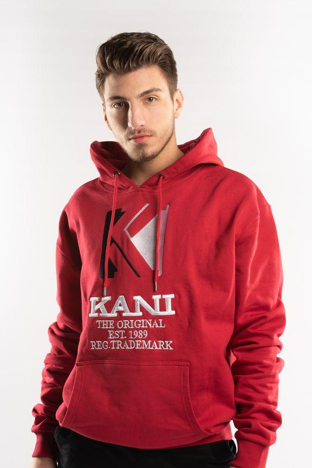 ביגוד קארל קני לגברים KARL KANI OG HOODIE - אדום