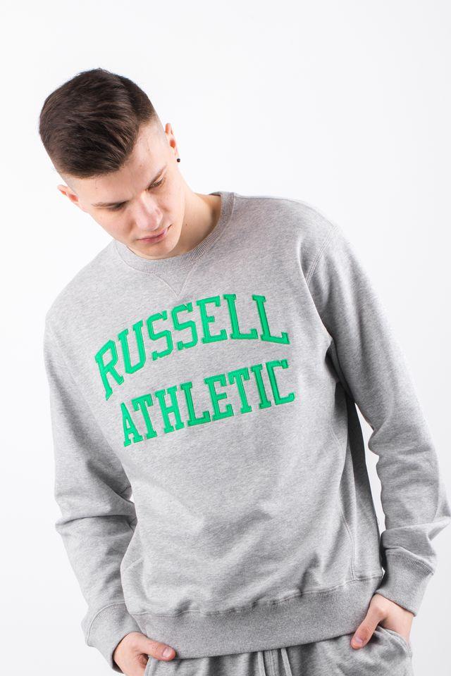 ביגוד ראסל אתלטיק לגברים Russell Athletic CREWNECK SWEATSHIRT 099 - אפור/ירוק