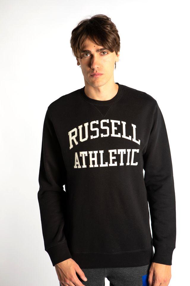 ביגוד ראסל אתלטיק לגברים Russell Athletic CREWNECK SWEATSHIRT 099 - שחור
