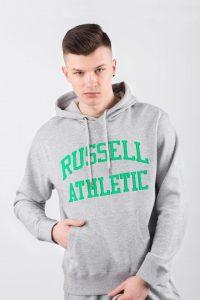 סווטשירט ראסל אתלטיק לגברים Russell Athletic HOODY SWEATSHIRT - אפור