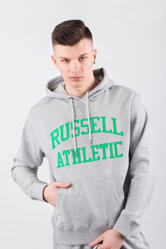ביגוד ראסל אתלטיק לגברים Russell Athletic HOODY SWEATSHIRT - אפור