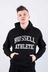 סווטשירט ראסל אתלטיק לגברים Russell Athletic HOODY SWEATSHIRT - שחור