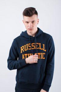 סווטשירט ראסל אתלטיק לגברים Russell Athletic HOODY SWEATSHIRT - כחול