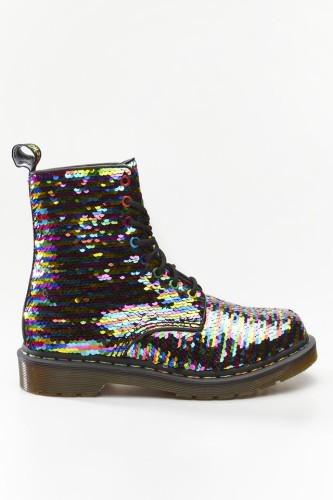 מגפיים דר מרטינס  לנשים DR Martens 1460 PASCAL SEQUIN - שחור