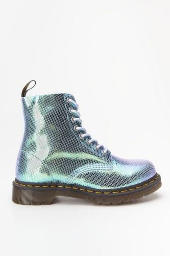 מגפיים דר מרטינס  לנשים DR Martens 1460 PASCAL IRIDESCENT - כחול