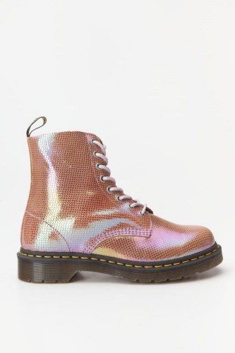 מגפיים דר מרטינס  לנשים DR Martens 1460 PASCAL IRIDESCENT - ורוד