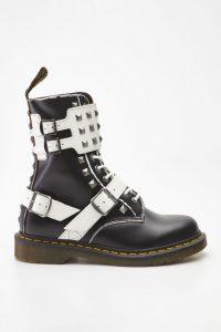 נעליים דר מרטינס  לגברים DR Martens 1490 JOSKA STUD - שחור/לבן