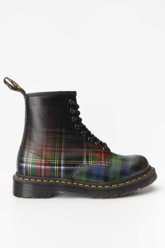 מגפיים דר מרטינס  לנשים DR Martens 1460 TARTAN - צבעוני כהה