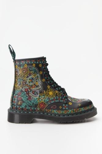 מגפיים דר מרטינס  לנשים DR Martens 1460 SKULL - צבעוני כהה