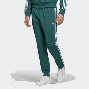 ביגוד אדידס לגברים Adidas SST Track Pants - ירוק
