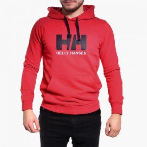 ביגוד הלי הנסן לגברים Helly Hansen Hansen Logo - אדום