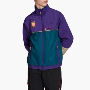 בגדי חורף אדידס לגברים Adidas Graphic Track Jacket - סגול
