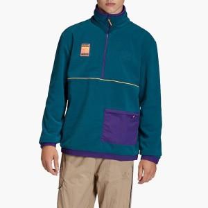 בגדי חורף אדידס לגברים Adidas Polar TOP - ירוק