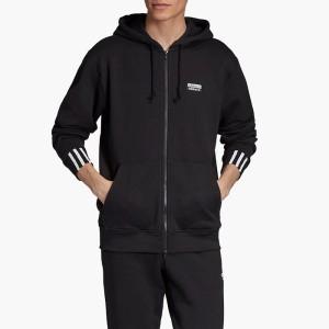 בגדי חורף אדידס לגברים Adidas R.Y.V. Vocal Full-Zip Hoodie - שחור