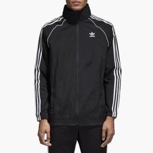ביגוד אדידס לגברים Adidas SST Windbreaker - שחור