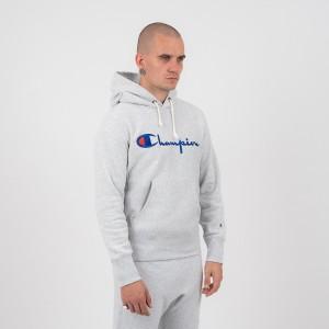 ביגוד צ'מפיון לגברים Champion Hooded - אפור בהיר