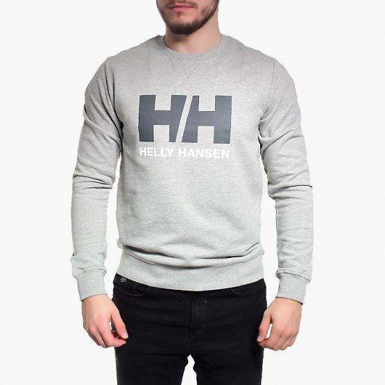 ביגוד הלי הנסן לגברים Helly Hansen Hansen Logo Crew - אפור בהיר