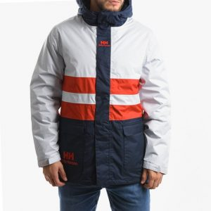 ביגוד הלי הנסן לגברים Helly Hansen Hansen Young Urban ins Rain Jacket - לבן