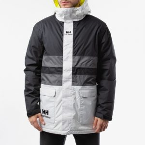 ביגוד הלי הנסן לגברים Helly Hansen Hansen Young Urban ins Rain Jacket - שחור/לבן