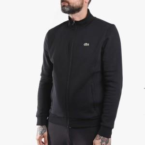 בגדי חורף לקוסט לגברים LACOSTE Zip Up - שחור