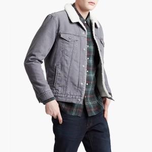 בגדי חורף ליוויס לגברים Levi's Type 3 Sherpa - אפור