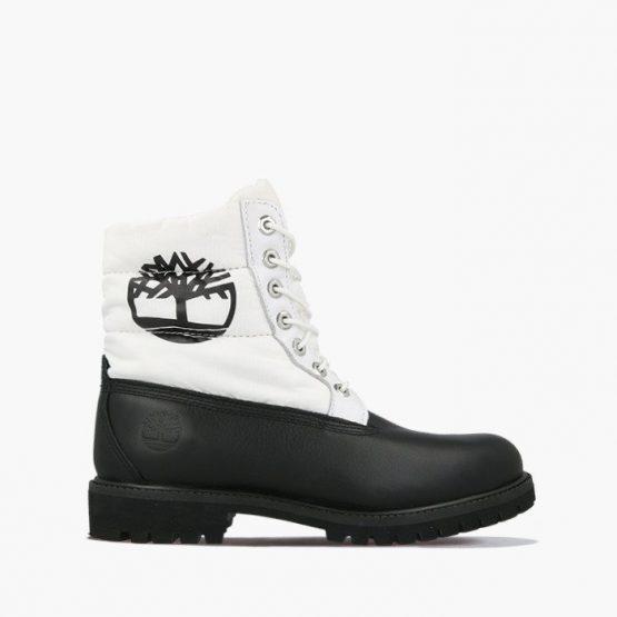 נעליים טימברלנד לגברים Timberland Premium 6 IN Quilt Boot - שחור/לבן