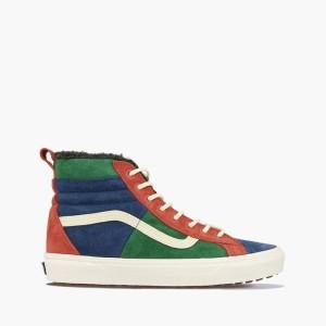נעליים ואנס לגברים Vans Sk8-Hi 46 MTE - לבן  כחול  אדום