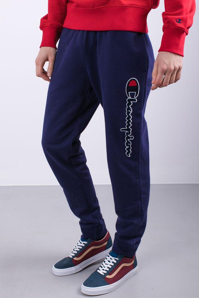 ביגוד צ'מפיון לגברים Champion RIB CUFF PANTS - כחול
