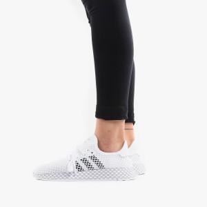 נעליים Adidas Originals לנשים Adidas Originals Deerupt Runner - לבן/שחור