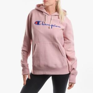 בגדי חורף צ'מפיון לנשים Champion Hooded Sweatshirt - ורוד