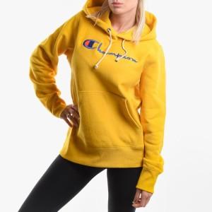 בגדי חורף צ'מפיון לנשים Champion Hooded Sweatshirt - צהוב