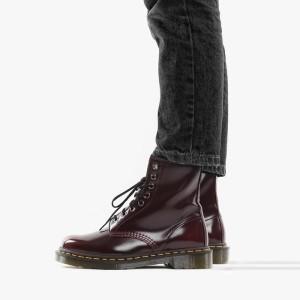 מגפיים דר מרטינס  לנשים DR Martens Vegan 1460 - אדום יין