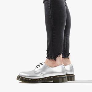 נעליים דר מרטינס  לנשים DR Martens Vegan 1461 Metallic Chrome Paint - כסף