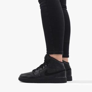 נעליים נייק לנשים Nike Air Jordan 1 Mid GS - שחור