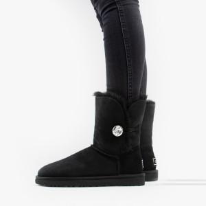 מגפיים האג לנשים UGG Bailey Button Bling - שחור