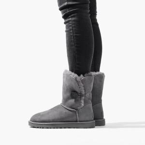 נעליים האג לנשים UGG Bailey Button II - אפור