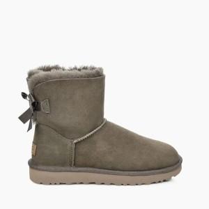 נעליים האג לנשים UGG Mini Bailey Bow II - אפור