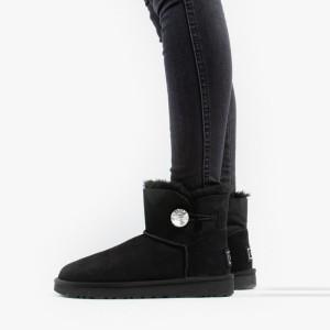 נעליים האג לנשים UGG Mini Bailey Button Bling - שחור
