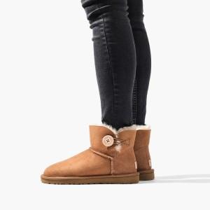 נעליים האג לנשים UGG Mini Bailey Button II - חום