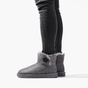 נעליים האג לנשים UGG Mini Bailey Button II - אפור