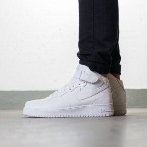 נעליים נייק לגברים Nike AIR FORCE 1 MID - לבן