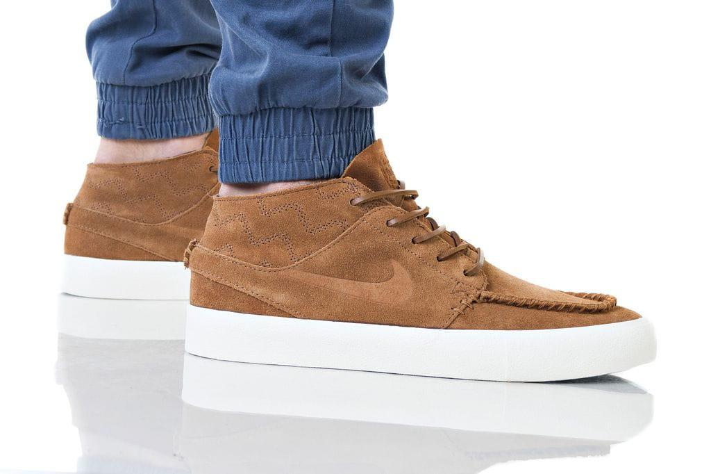 נעליים נייק לגברים Nike SB ZOOM JANOSKI MID RM - חום/לבן
