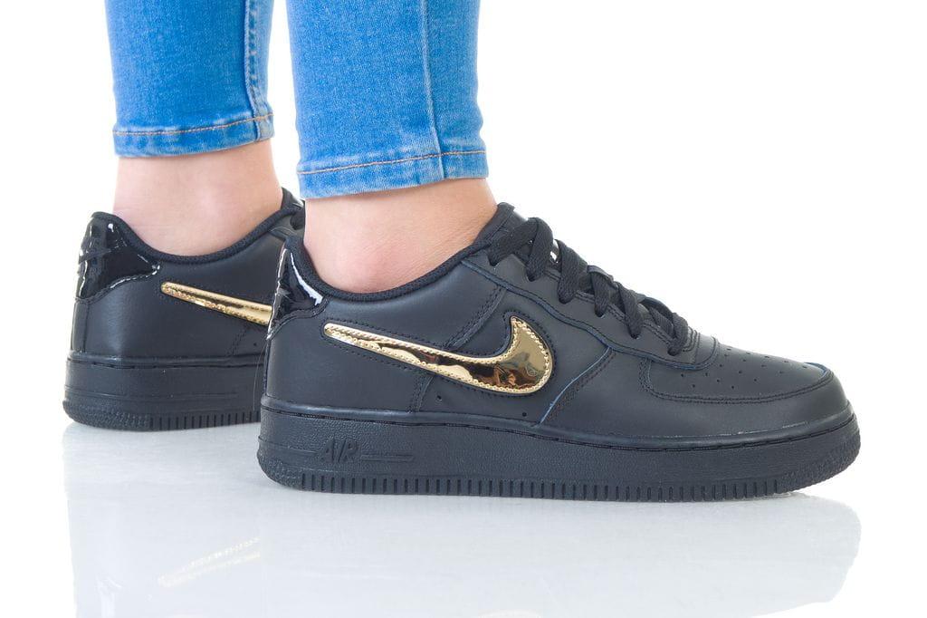 נעליים נייק לנשים Nike AIR FORCE 1 LV8 STYLE - שחור/צהוב