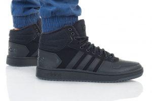 נעלי סניקרס אדידס לגברים Adidas HOOPS 2 MID - שחור פחם