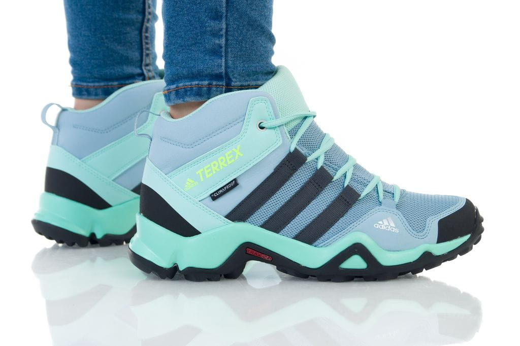 נעליים אדידס לנשים Adidas TERREX AX2R MID CP K - כחול/ירוק