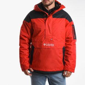ביגוד קולומביה לגברים Columbia Challenger Pullover - אדום