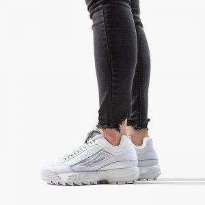 נעלי סניקרס פילה לנשים Fila DISRUPTOR II PATCHES - לבן הדפס