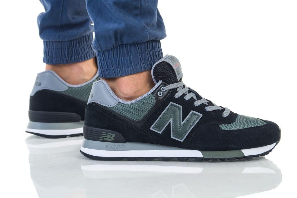 נעליים ניו באלאנס לגברים New Balance 574 - שחור/ירוק